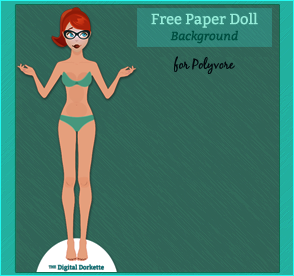 Digital Dorkette Paper Doll Maker template - Polyvore | paper dolls ...