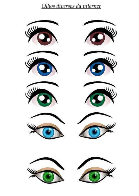 Moldes De Olhos Bonecas E Animais Molde De Olhos Olho De