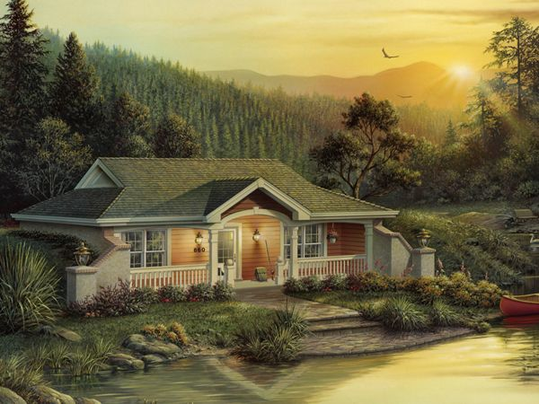 Woodhaven Vacation Home Vacation House Plans Earth Sheltered Homes Cottage Style House Plans