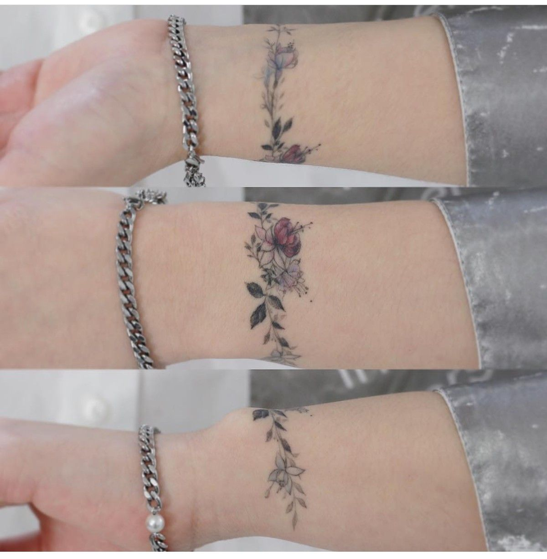 Wrist Flower Bracelet Tattoo Wrist Bracelet Tattoo Tattoo Bracelet Bracelet Tattoo For Man