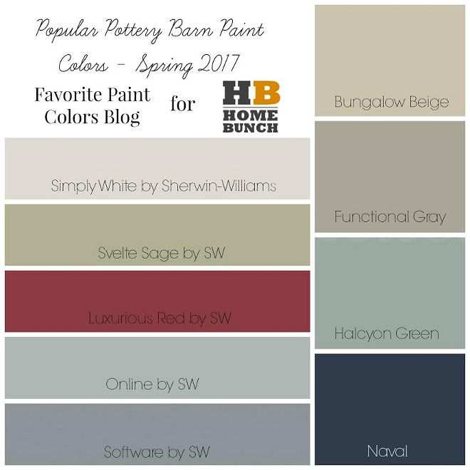 Popular Paint Colors 2017 interior design ideas | paint | pinterest | pottery barn paint