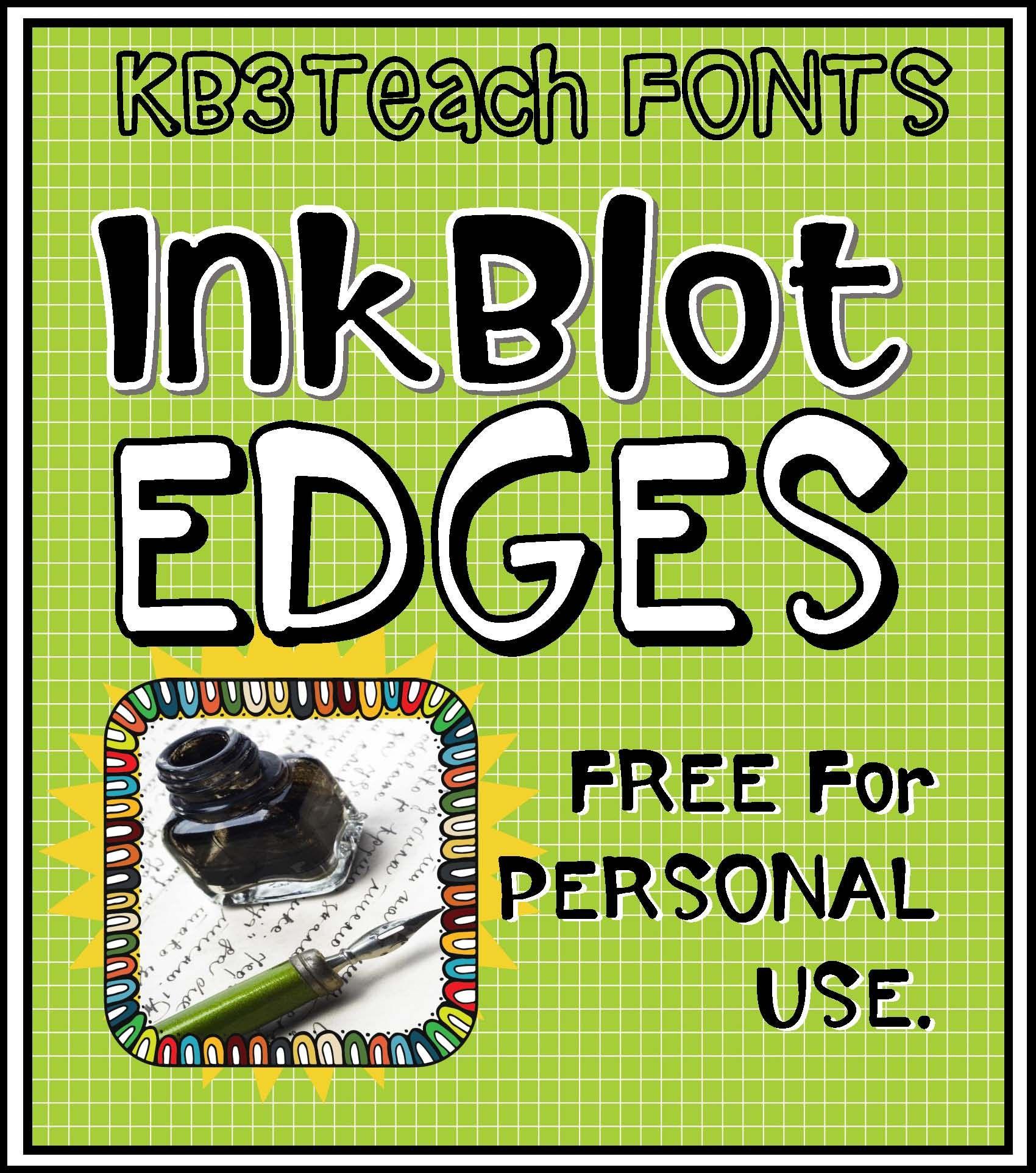 Download FREE FONTS: KB3 Ink Blot 6-Font Set (Personal Use) | Font ...