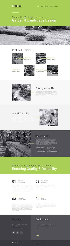 Garden & Landscape Design #website #template. #themes #business ...