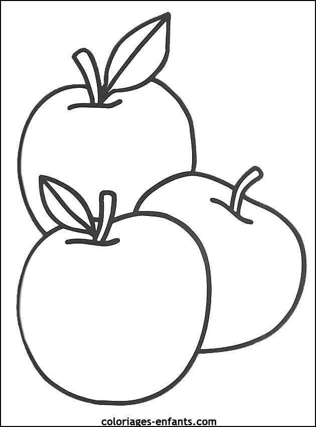 coloriages de fruits et légumes | Kolorowanki | Pinterest | Apples ...