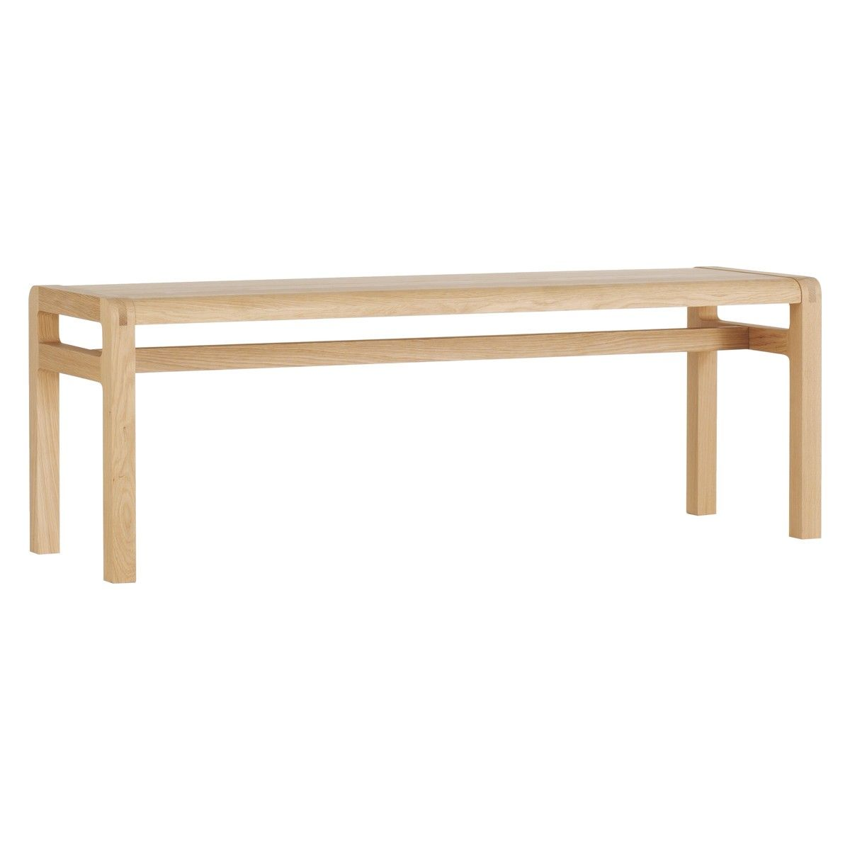 radius 3 seater oak dining bench | dining bench, solid oak and