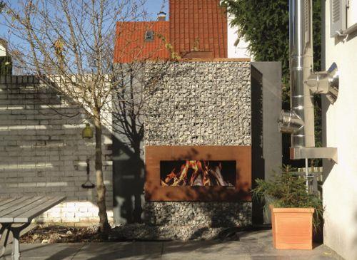 Corten Steel Fireplaces By Zeno Exterior Fireplace Modern