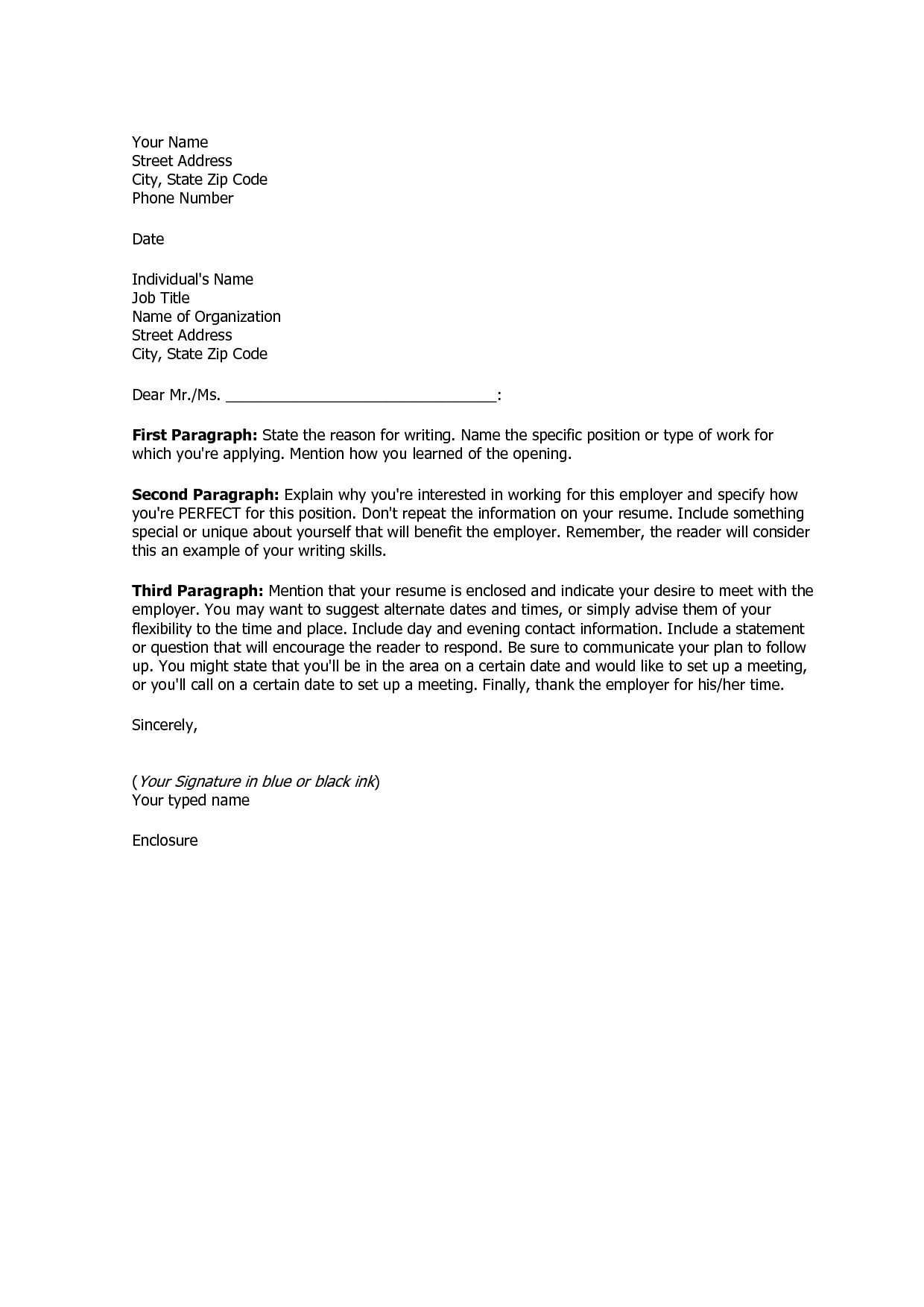 30 Simple Cover Letter For Resume Simple Cover Letter Job