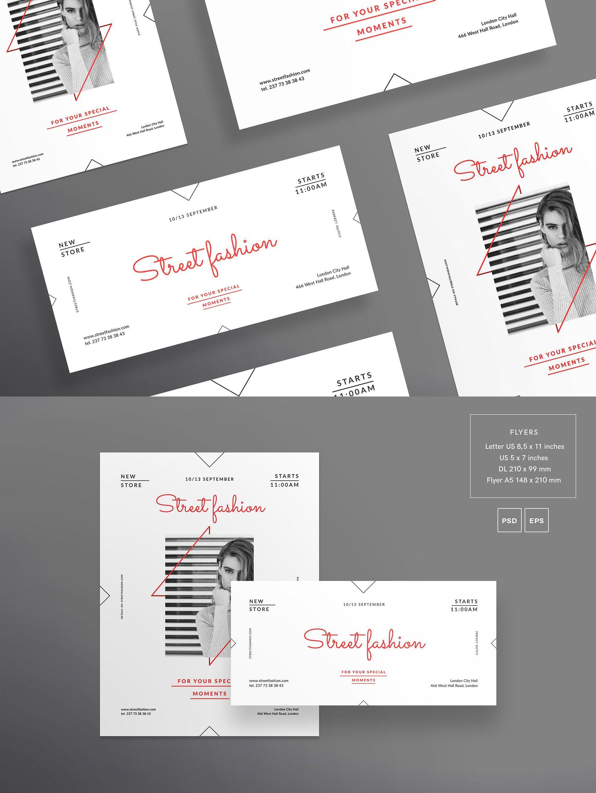 flyers template street fashion pdf flyer templates pinterest