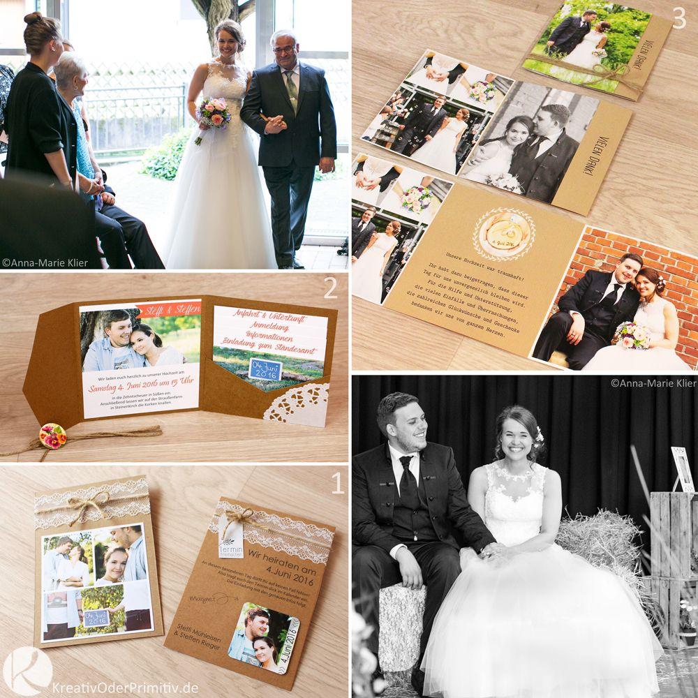 KreativOderPrimitiv.de   Meine DIY Hochzeit, Einladung, Weddig, Rustikal,