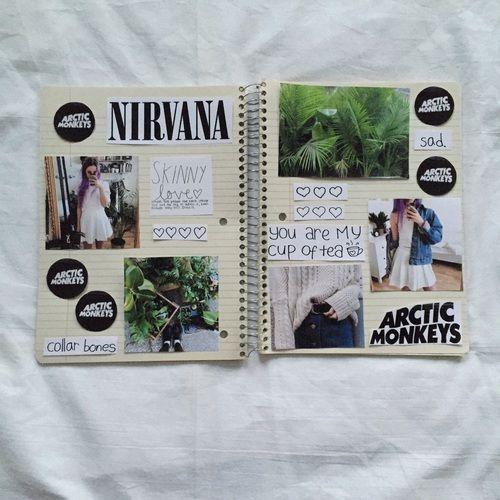 arctic monkeys, book, nirvana, notebook, tumblr | Tumblr ...