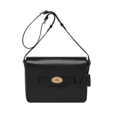 Mulberry - Large Bayswater Shoulder in Black Shiny Goat  afdb2a6d2ba84