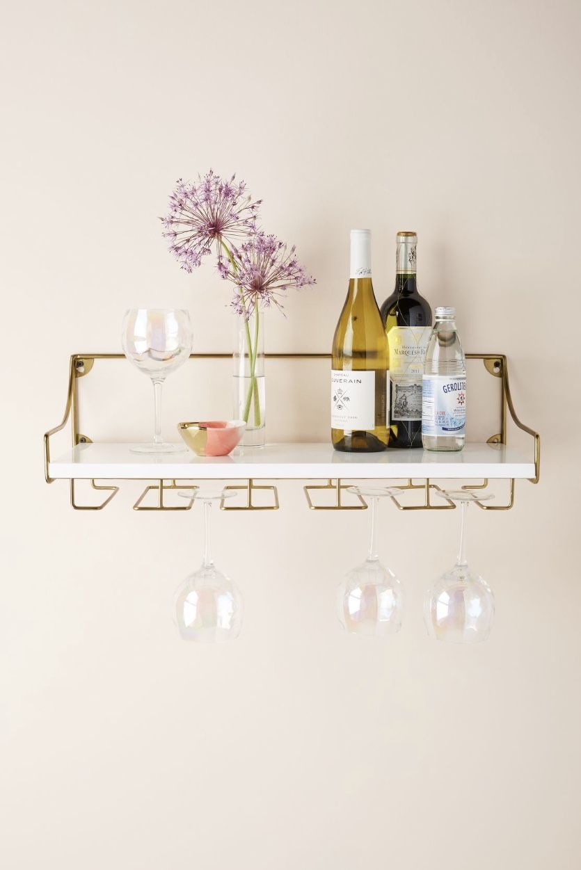 Badezimmer Ideen Dekoration Ablage In 2020 Weinglasregal Glasregal Wandregale Dekorieren