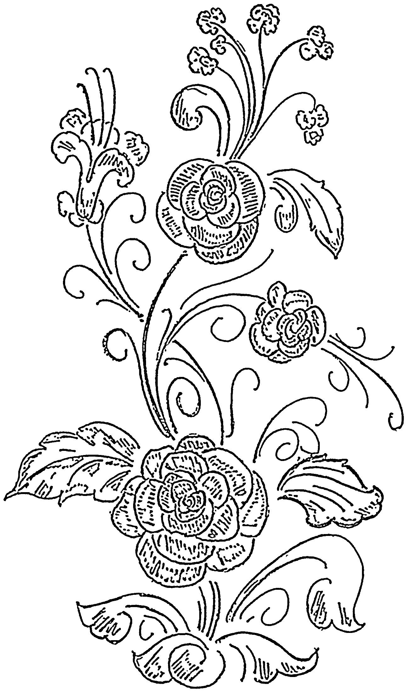 Glass Painting Patterns Flower Design 40 Glass Painting