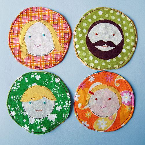 family portrait coasters