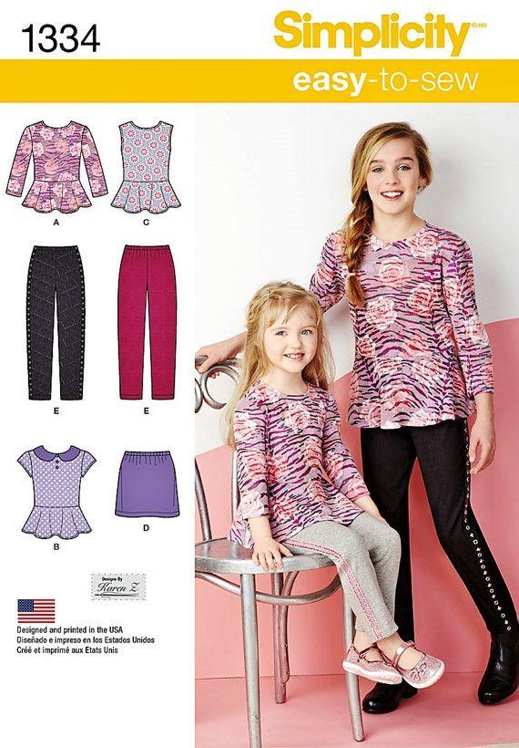 13936b4b53c7f Girls  Peplum Top Pattern Girls  Mini Skirt Pattern by blue510