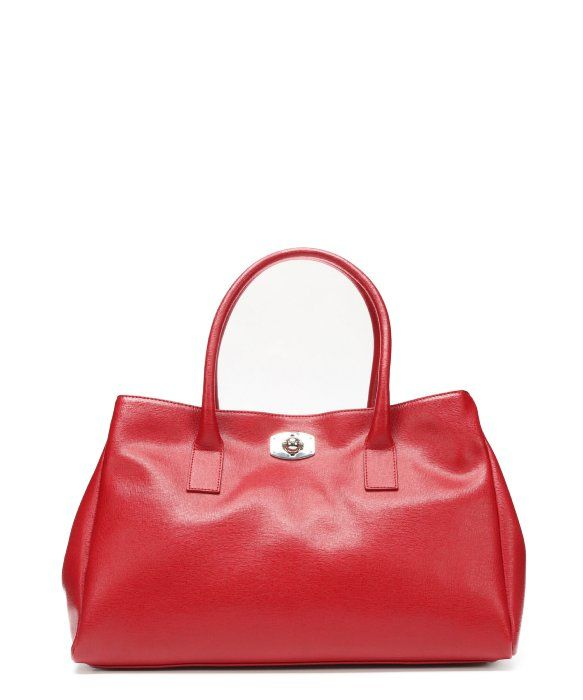 Furla cabrinet red crosshatched leather 'New Appaloosa' tote bag