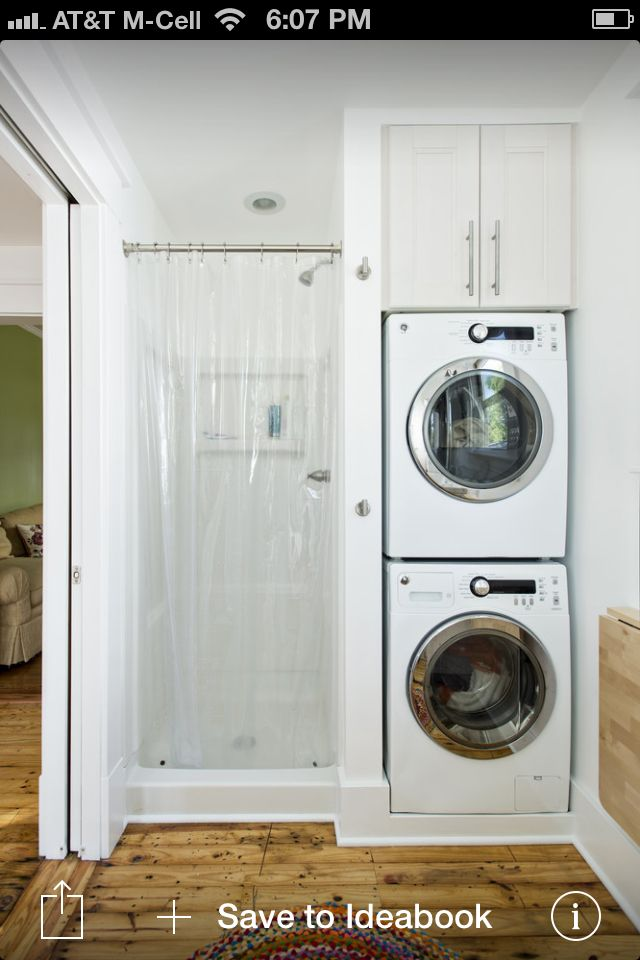 Space Saving Laundry Option Small Laundry Rooms Laundry In Bathroom Bathroom Design Small