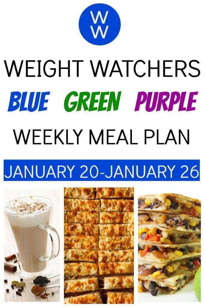 Weight Watchers Weekly Meal Plan for ALL Plans (1/20/20-1/26/20)