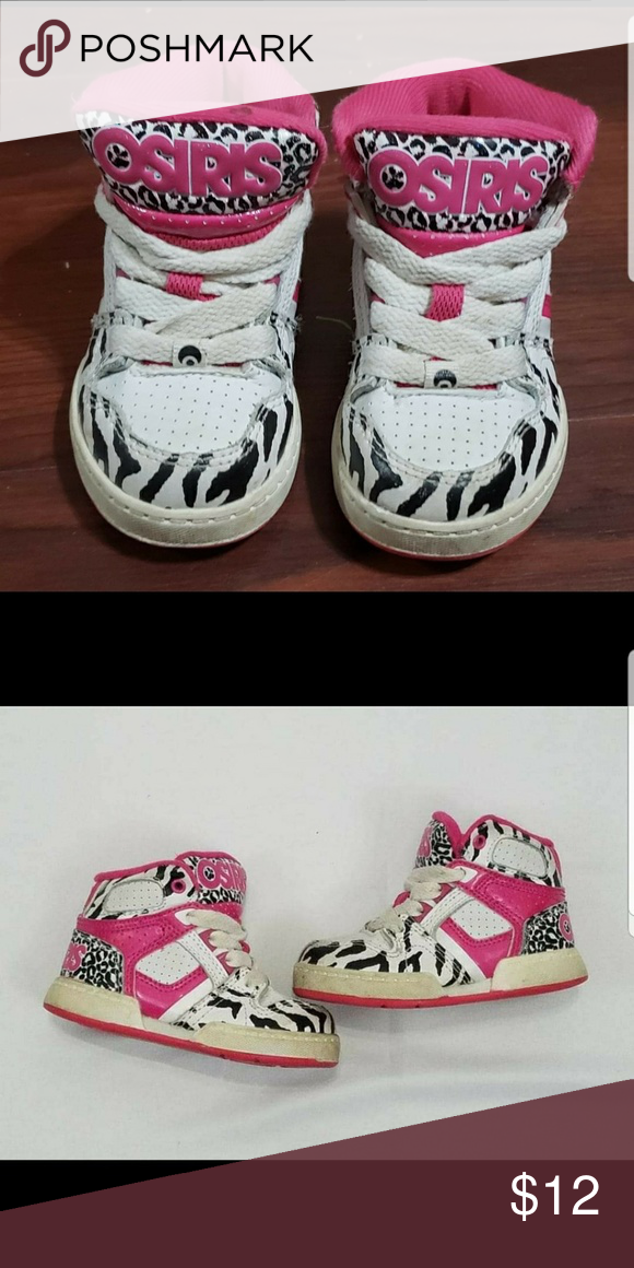 3d18d590e639 Osiris Zebra Shoes Really cute Zebra Sneakers guc 6t Osiris Shoes Sneakers