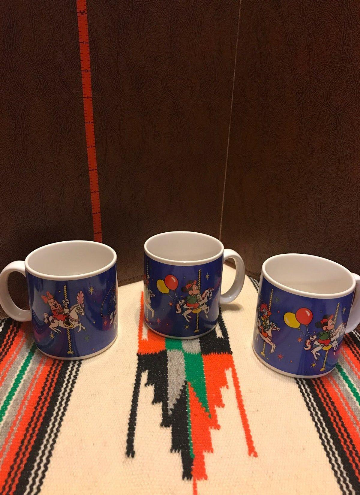 Set Of 3 Walt Disney Coffee Mugs on Mercari