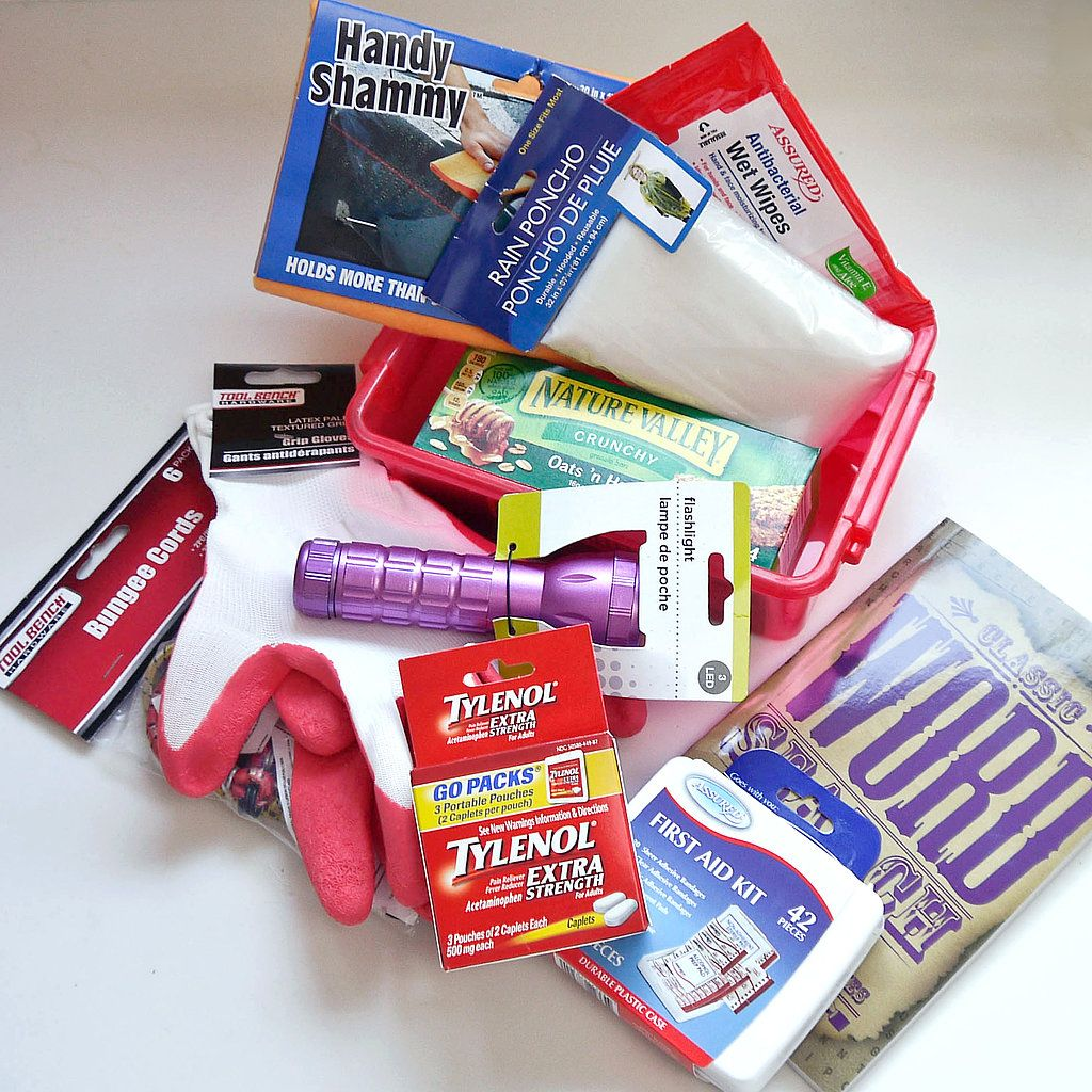 Be prepared with this dollar store car emergency kit
