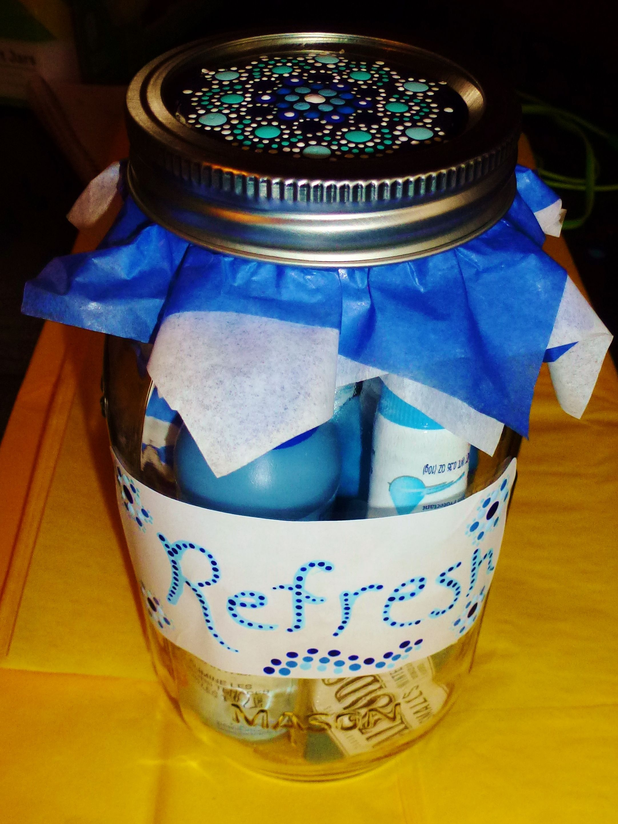 Hand painted mason jar for gifts great gift for teachers and anyone