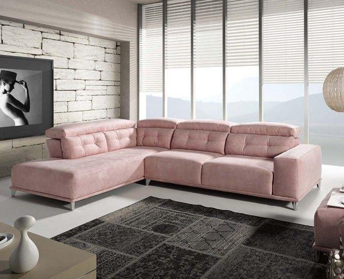 Sofá chaise longue moderno, rosa 1041-05 | Dream house | Pinterest ...