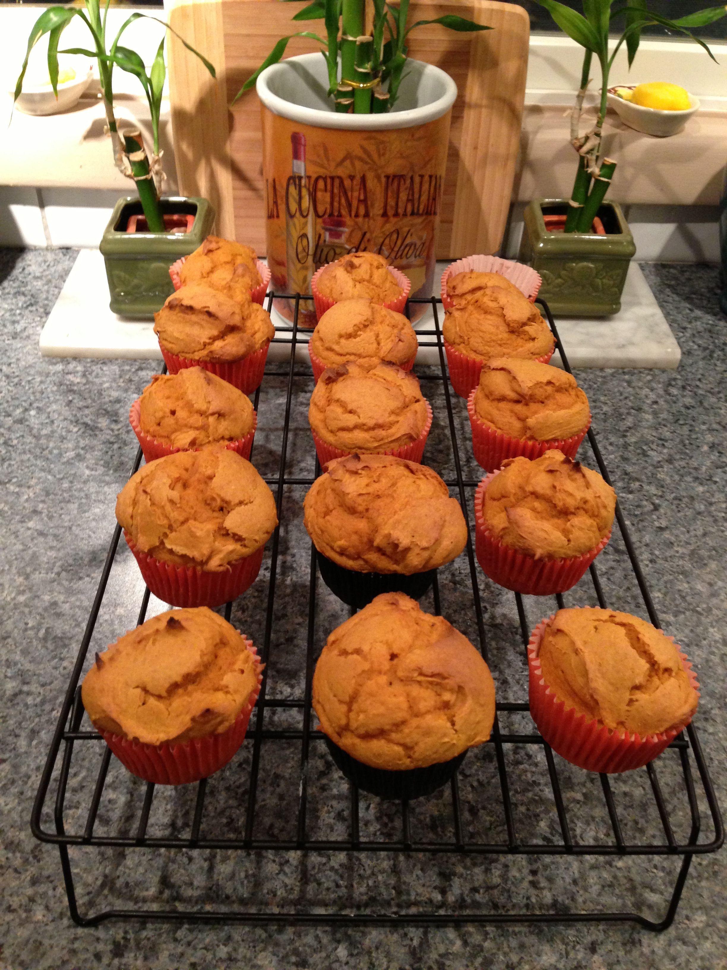 Easy pumpkin muffins 1 box duncan hines white cake mix