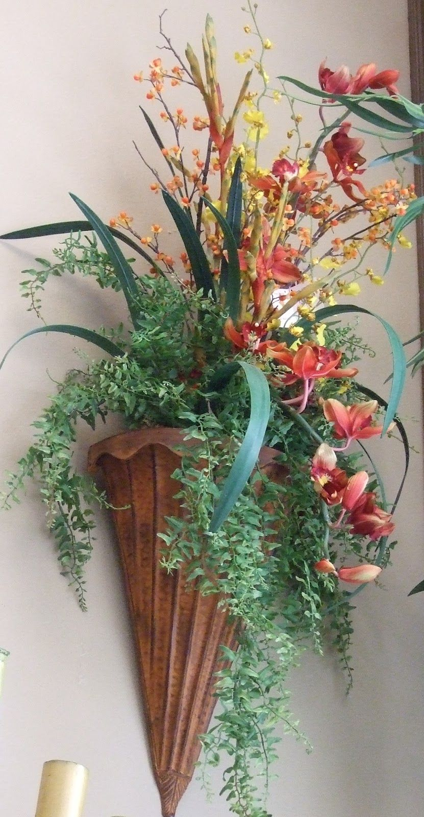 Silk flower arrangements imageswall sconces silk flowers complete your decoration with one wall sconces silk flowers arrangement youll be able to enjoy for years to come mightylinksfo Image collections