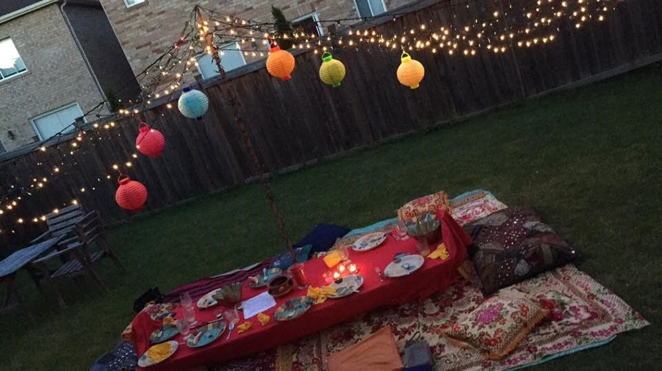 Moroccan Themed Backyard Party!