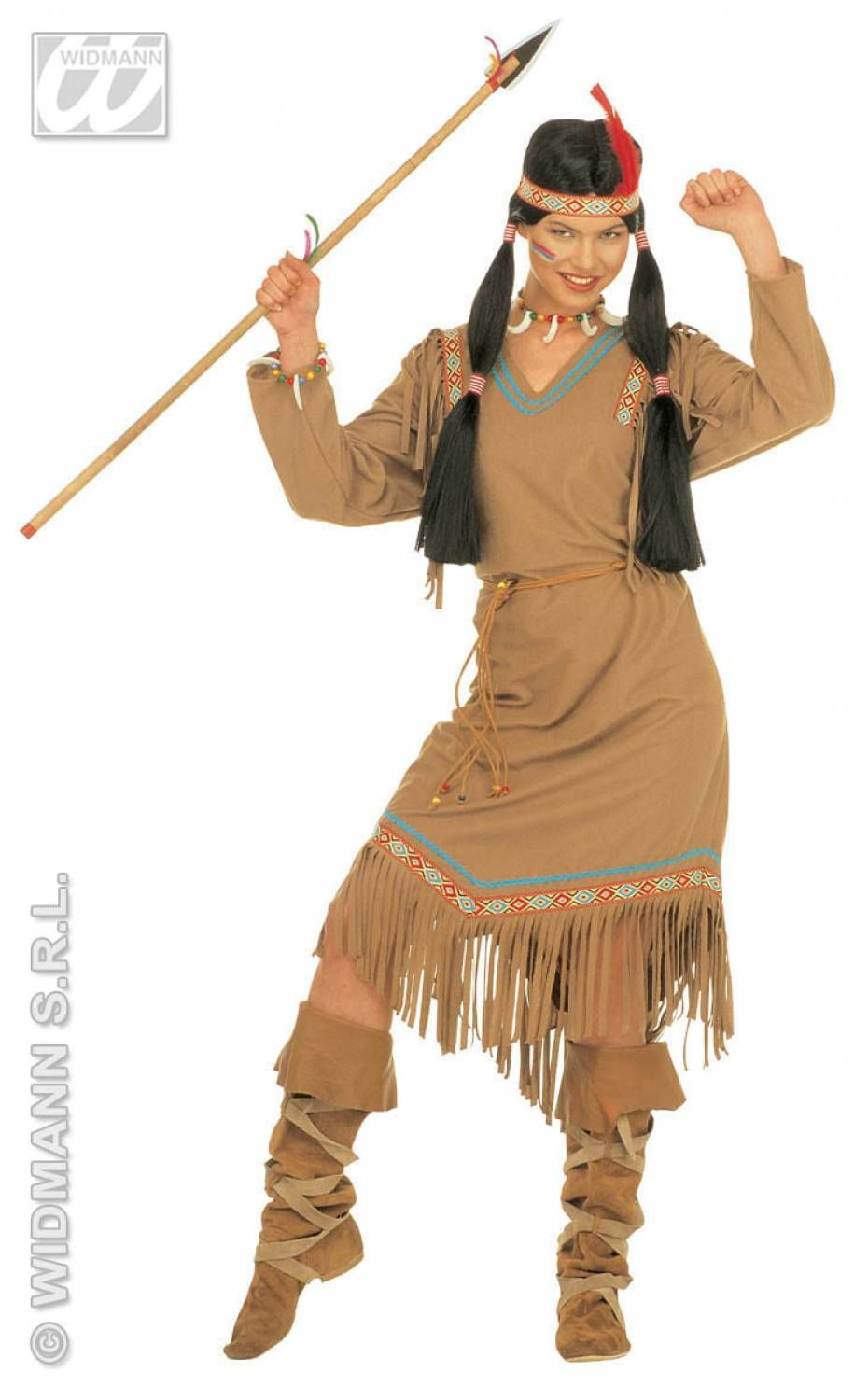 Da Donna con Native American Girl Costume Wild West Vestito da Adulto