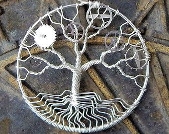 Wire Wrapped Silver Steampunk Tree of Life