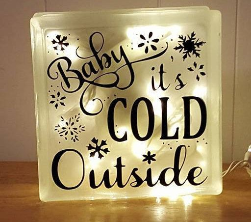 Baby Itu0027s Cold Outside Lighted Glass Block By CaycePersonalization