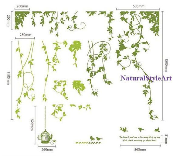 Decal wall stickers wall decals wall sticker by NaturalStyleArt, $55.00