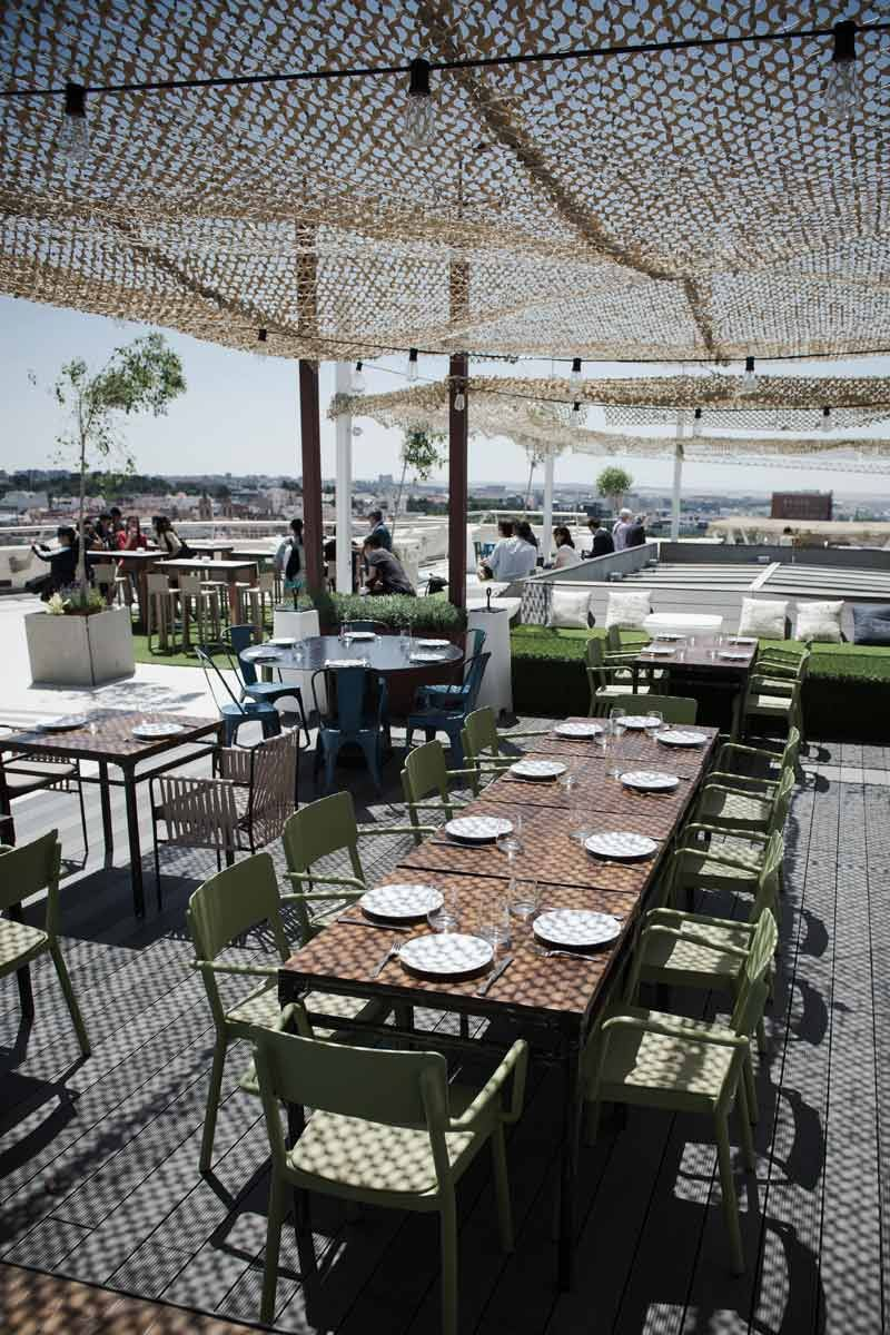 Tartar Roof Madrid Restaurante Al Aire Libre