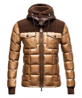 Moncler Lazare Down Jacket Fashion Men Short Khaki www.onlakemac.com/moncler -