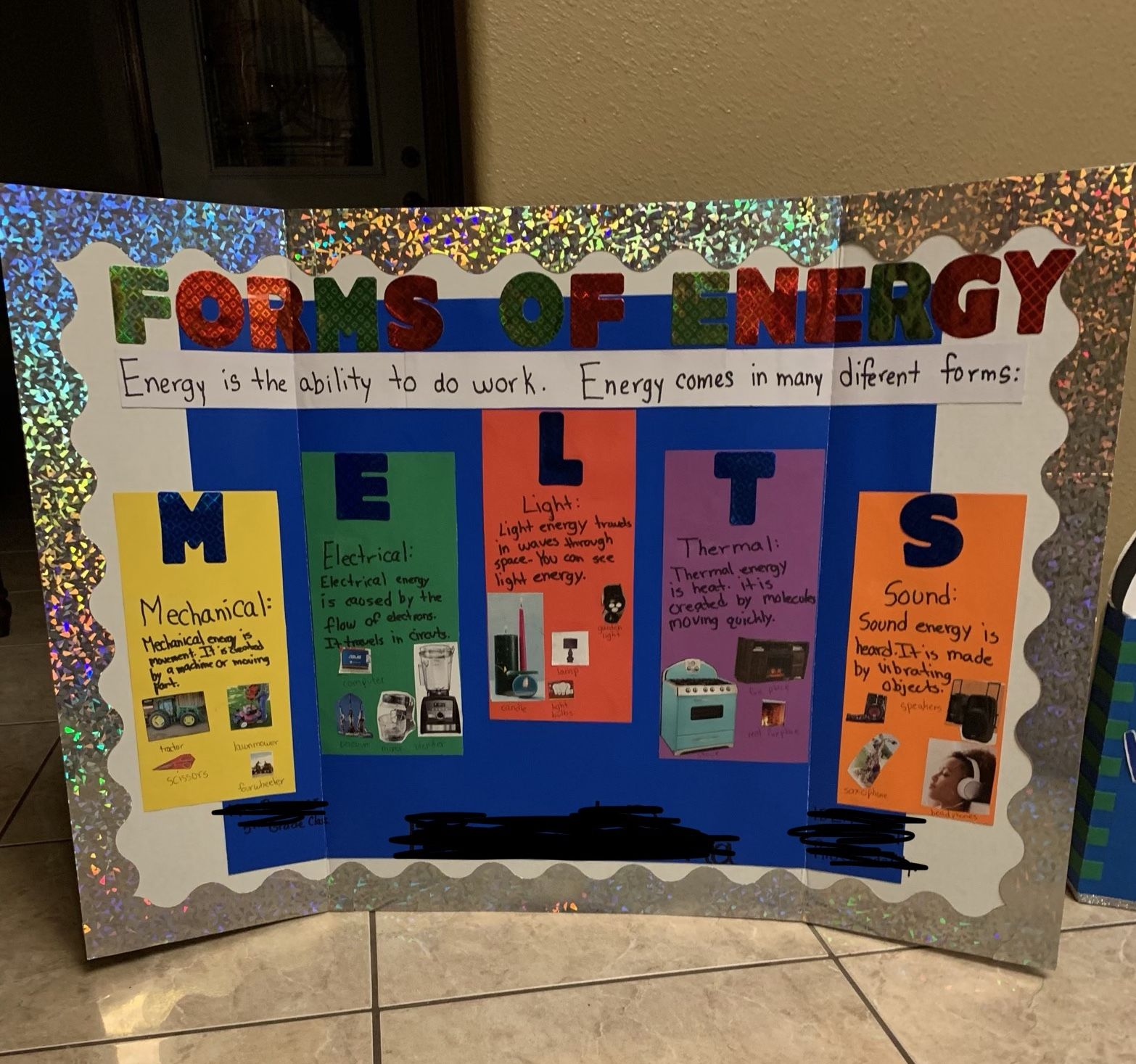 Forms Of Energy Melts 5th Grade Project