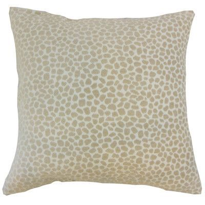 "The Pillow Collection Badr Geometric Throw Pillow Color: Ivory, Size: 22"" x 22"""