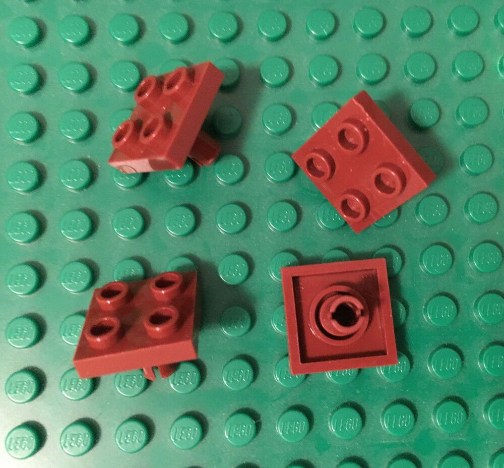 NEW 6x LEGO Plate 2 X 2 With 1 Stud Reddish Brown P//N 87580 A019