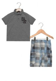 Conjunto masculino bermuda e camiseta polo - Brandili Mundi  5bee0f7e85852