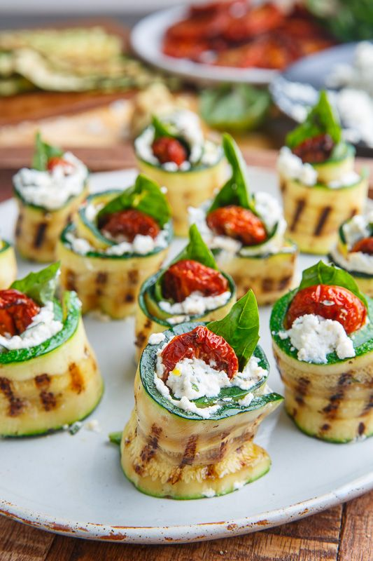Photo of Grilled Zucchini Rollups Stuffed with Lemon-Basil Ricotta and Slow Roasted Tomatoes