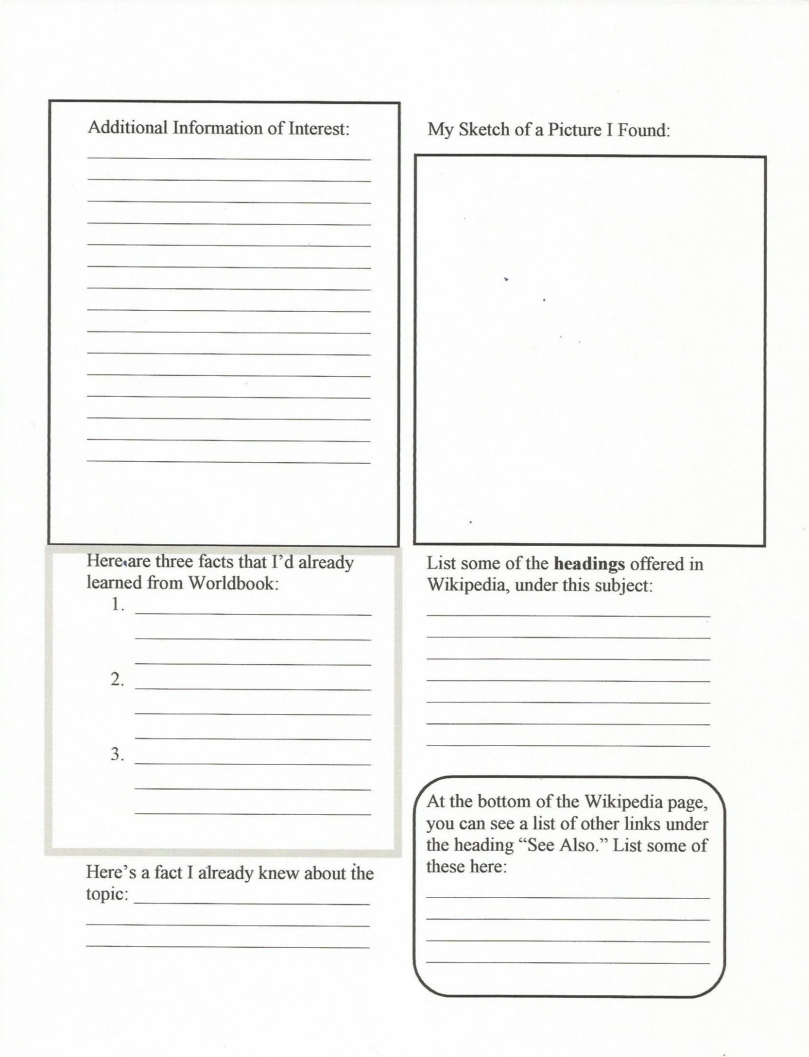 Citing Wikipedia Middle School Handout Worksheet Pg 2 Comes From My Educational Website