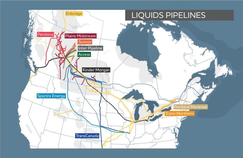 Map Of Major Natural Gas And Oil Pipelines In The United States - Us pipeline 1950 map