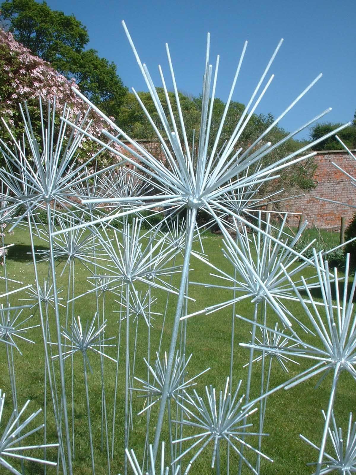 Poppy flower stake garden art poppy strong metal yard art flower - Flowers