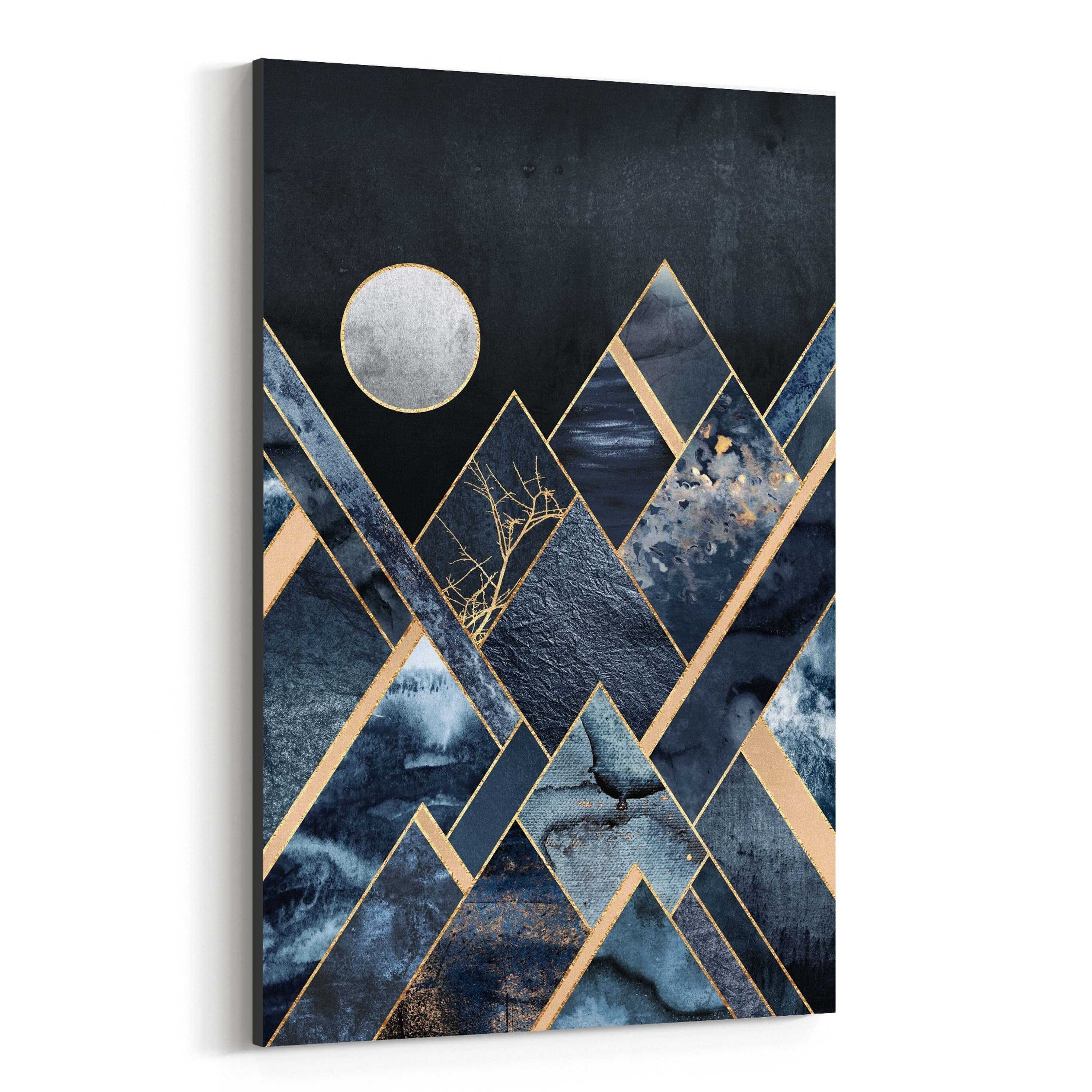 Noir Gallery Mountains Digital Geometric Canvas Wall Art Print 11 X 14 Mountain Art Print Mountain Art Abstract