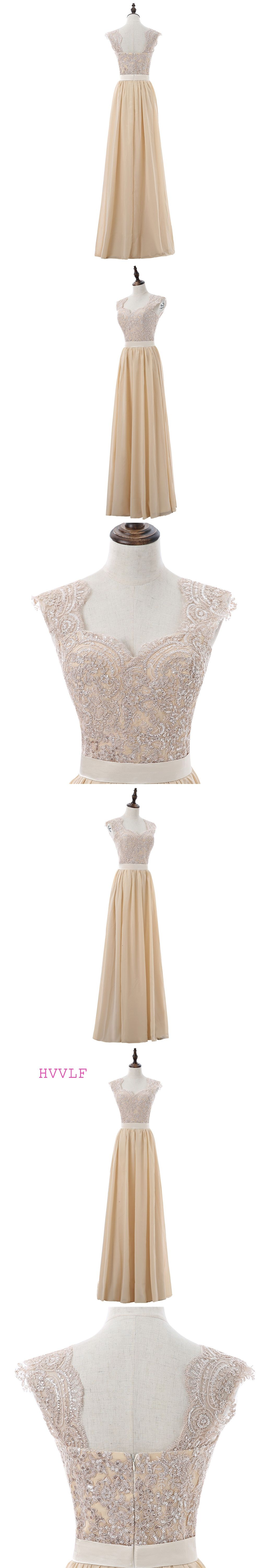 Champagne 2018 cheap bridesmaid dresses under 50 a line cap sleeves champagne 2018 cheap bridesmaid dresses under 50 a line cap sleeves chiffon lace sequins long ombrellifo Choice Image