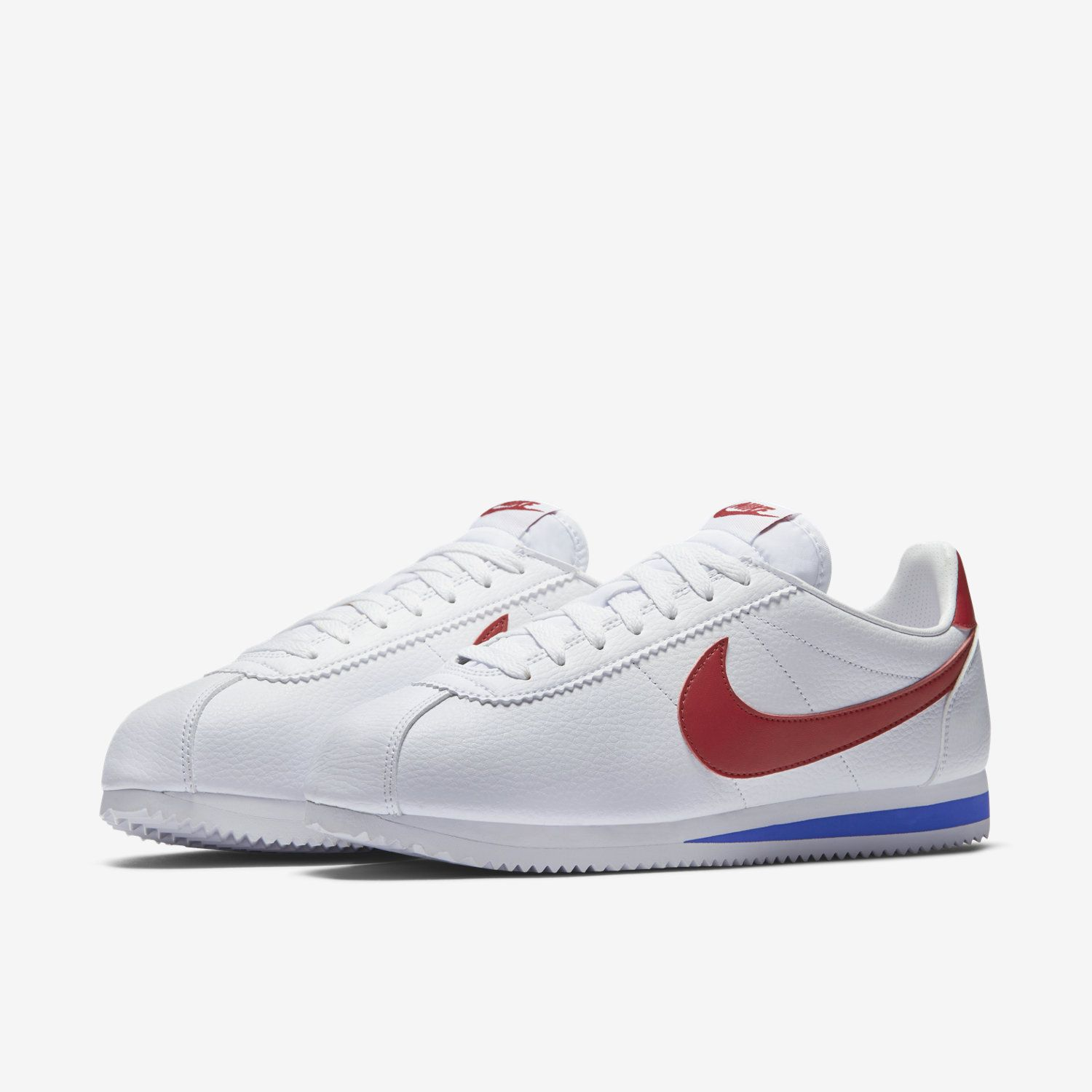 Nike Classic Cortez Leather, Nike Cortez, Red, Leather Shoes, Usa La,  Adidas, Leather Dress Shoes