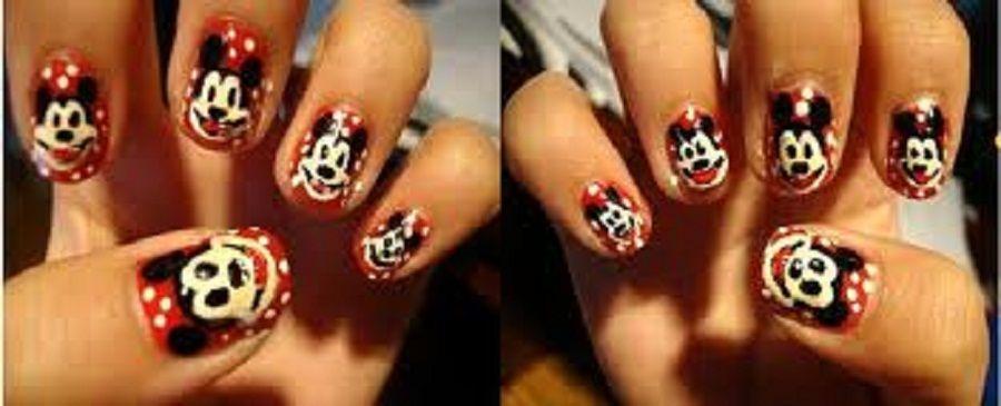 Fancy Mickey Mouse Nail Art | B E A U T Y: Nail Art Love | Pinterest