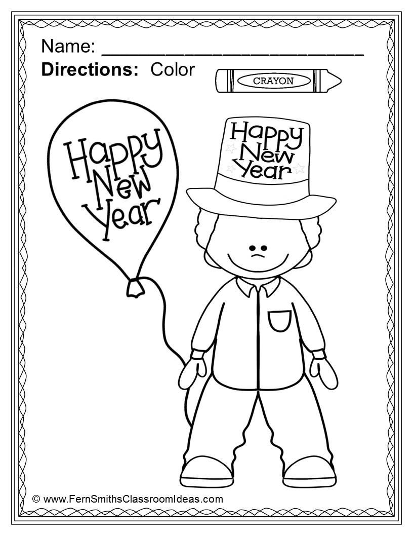 New Years Coloring Pages - 14 Pages of New Years Coloring Fun ...