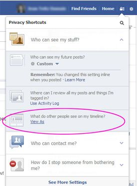 how to view your facebook profile